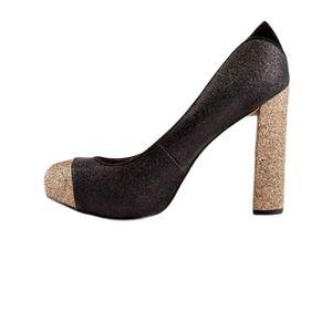 Sam Edelman Frances Block Heel Glitter Pumps